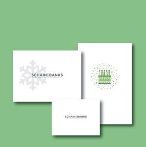 Schain Banks Stationery Design Example