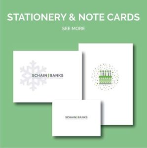 Schain Banks Stationery & Note Cards Design by Eclectik Design