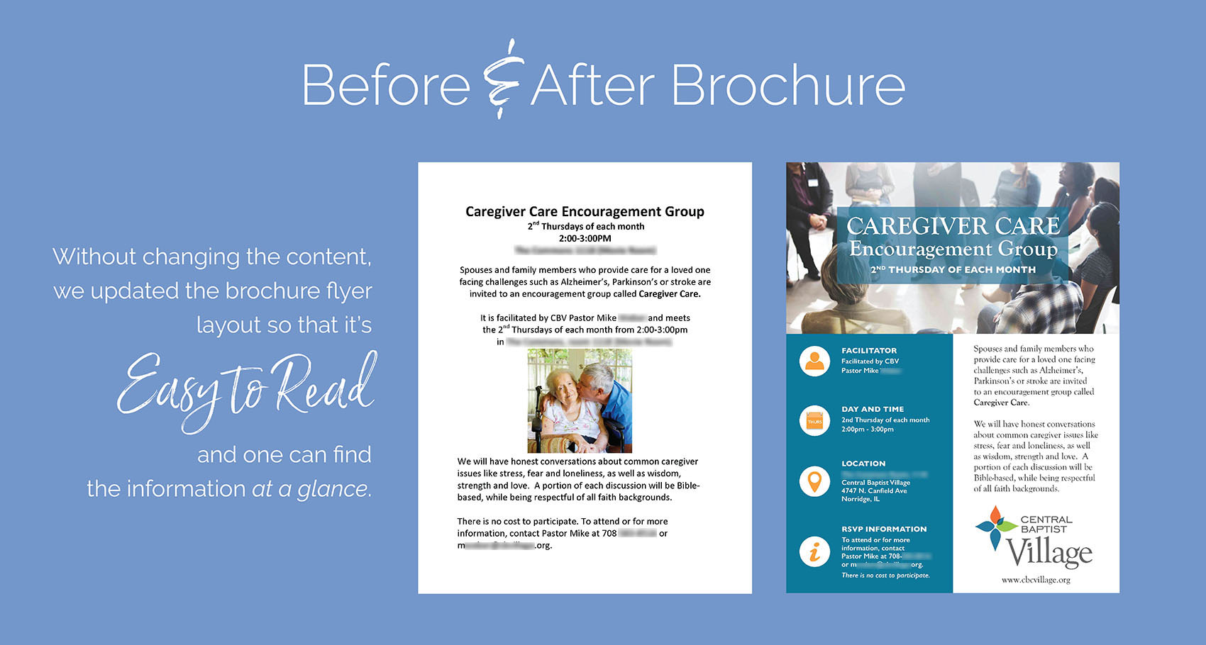 Before & After Brochure Design by Eclectik Design