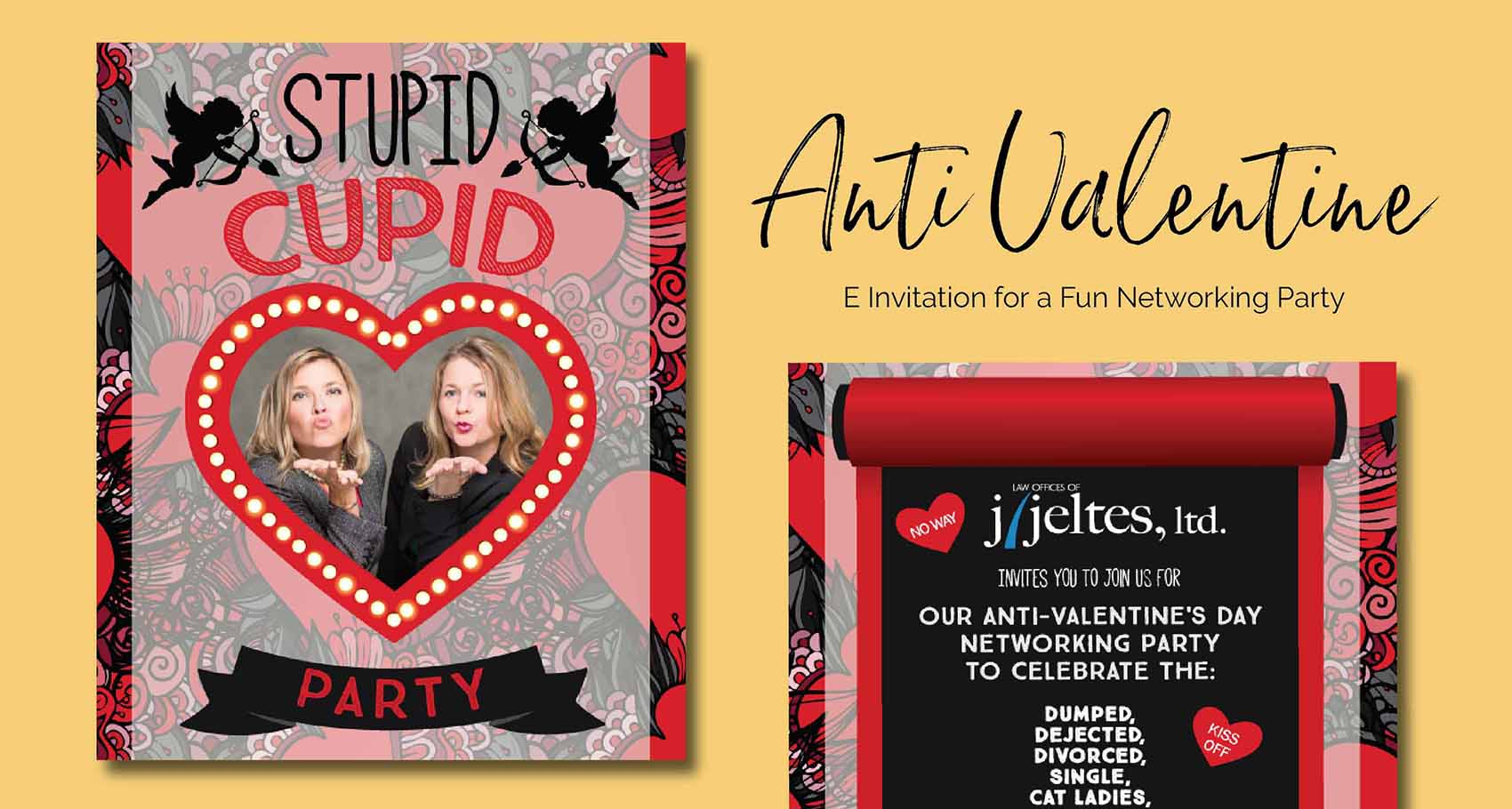 Anit Valentine e-Card Holiday Design