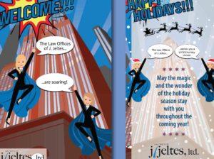 J. Jeltes Holiday Card Design Concept by Eclectik Design