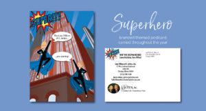 Superhero Postcard Design by Eclectik Design