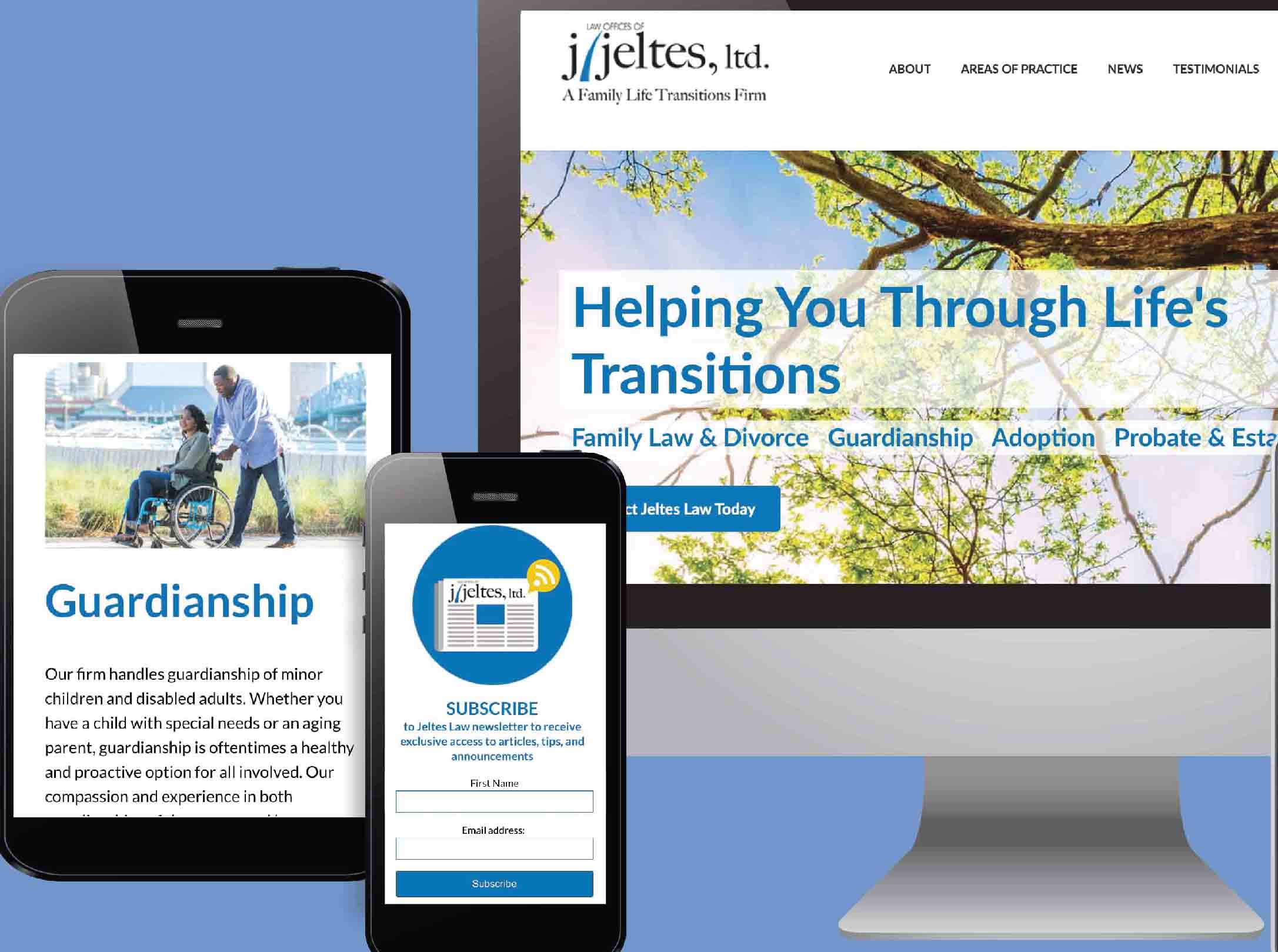 J. Jeltes Law Office Website Design