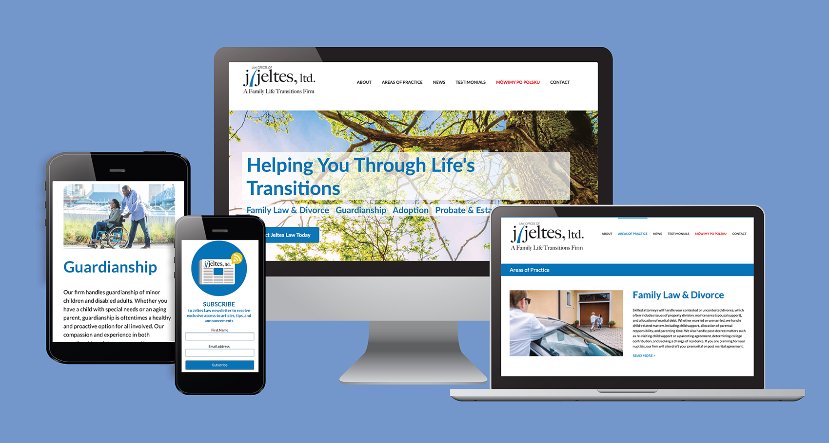 J Jeltes Website Design on Multiple Devices