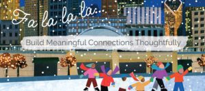 Chicago Ice Skaters Charity Holiday Card Design by Eclectik Design
