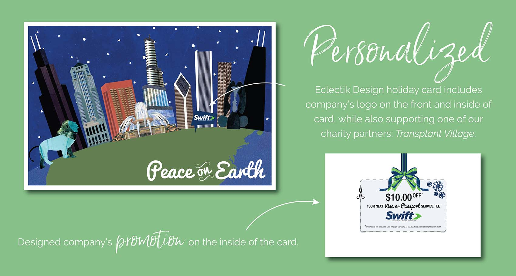 Peace on Earth Personalized Holiday Card Design