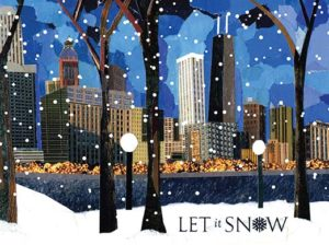 Let It Snow Holiday Card Design