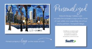 Swift Passport Let it Snow Holiday Card Process