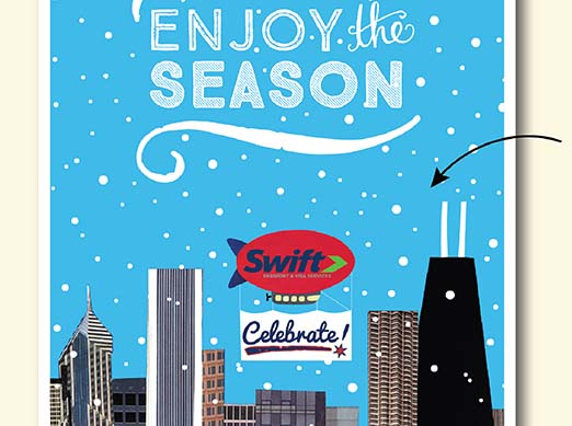 Close Up of Swift Passport Enjoy the Season Holiday Card