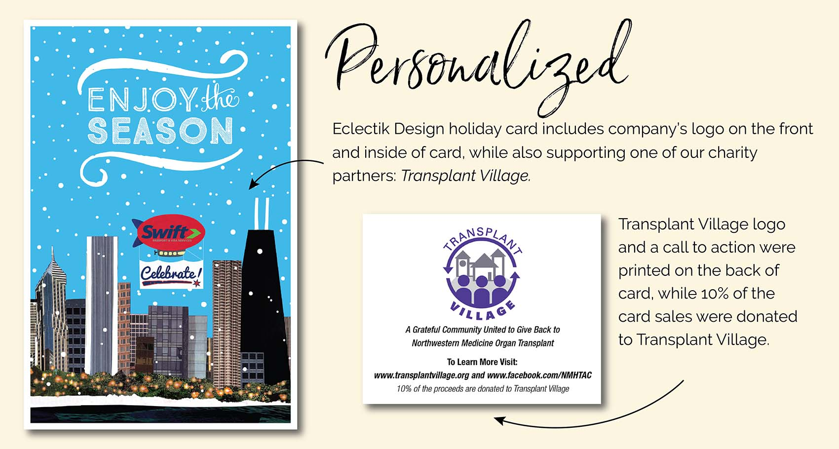 Swift Passport Enjoy the Season Holiday Card Design
