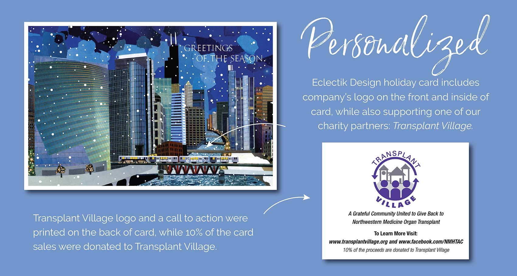 Transplant Village Charity Holiday Card Design Process