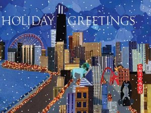 Close Up of Holiday Greetings Card Design