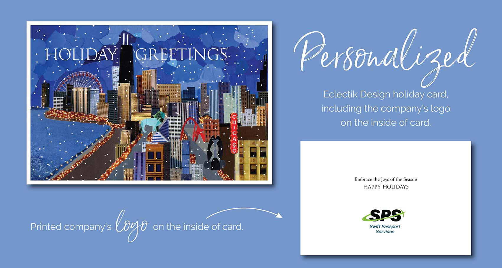 Personalized Holiday Greetings Holiday Card by Eclectik Design