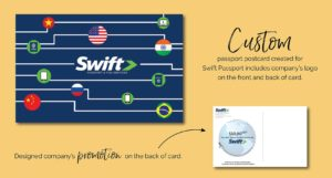Swift Passport Custom Holiday Postcard Design by Eclectik Design