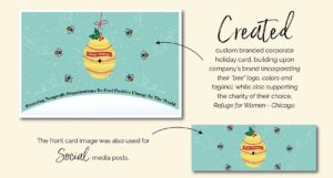 2016 Big Buzz Charity Holiday Card Design by Eclectik Design