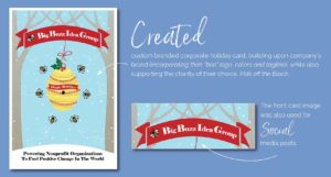 Big Buzz Charity Holiday Card Design by Eclectik Design