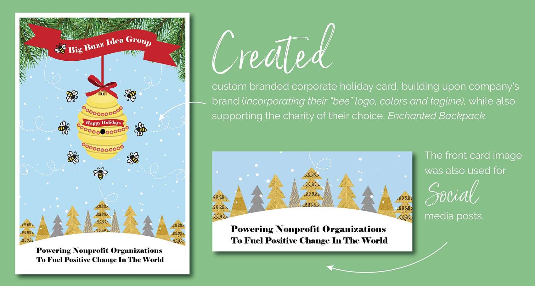 Big Buzz Idea Group Holiday Card Design