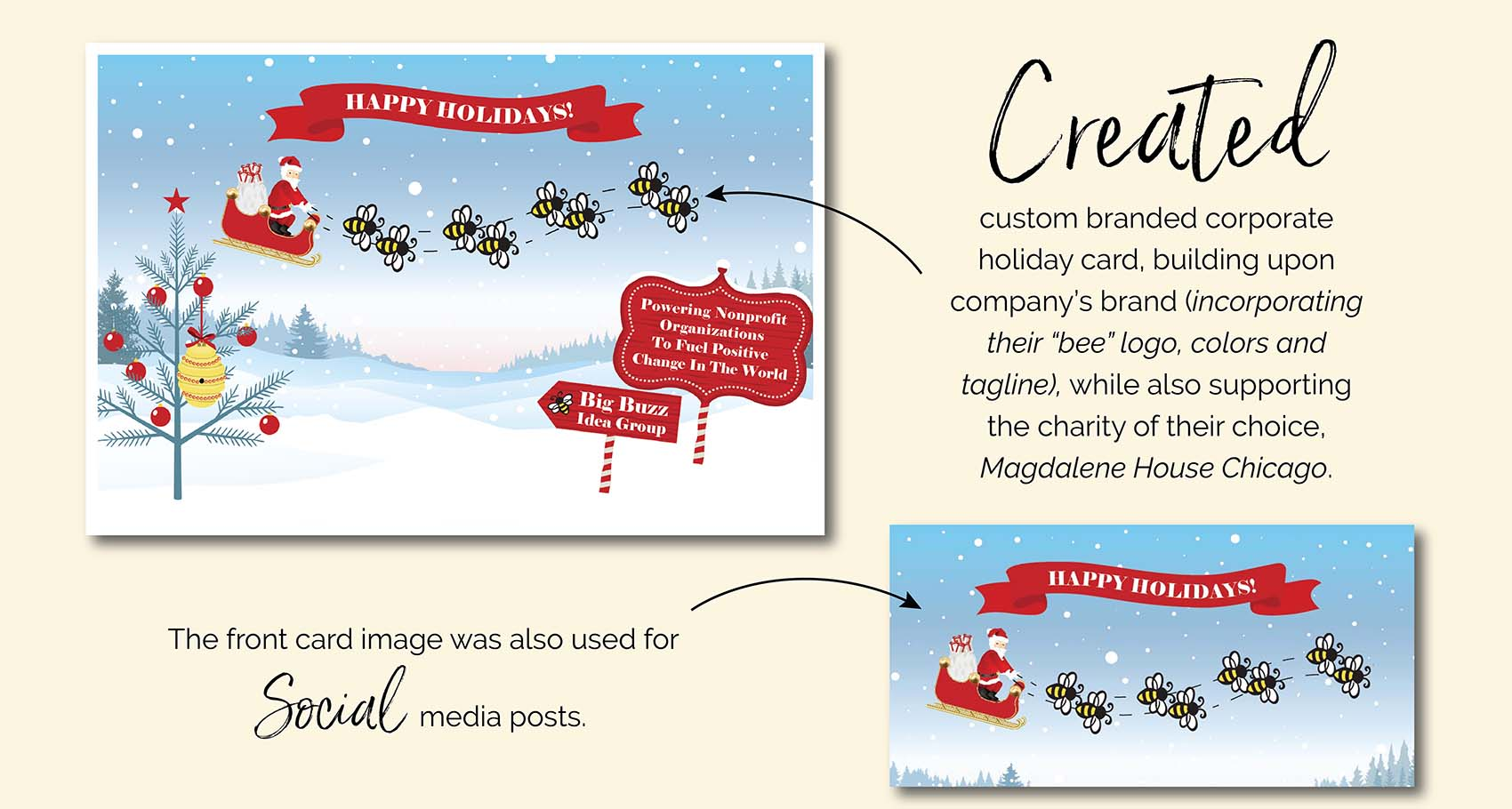 Holiday Card Design for Print and Social Media Use