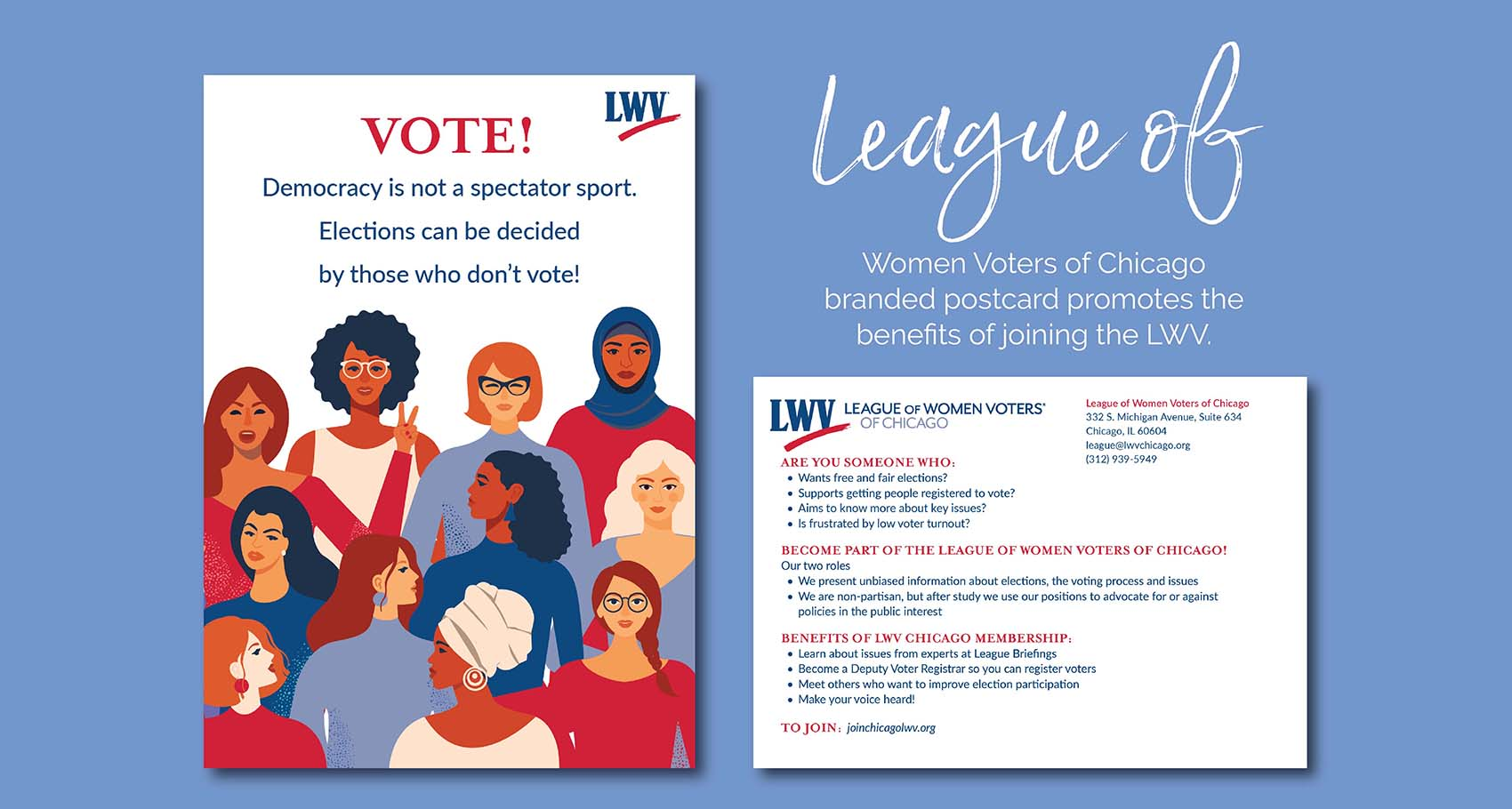 League of Women Voters' of Chicago Postcard Design