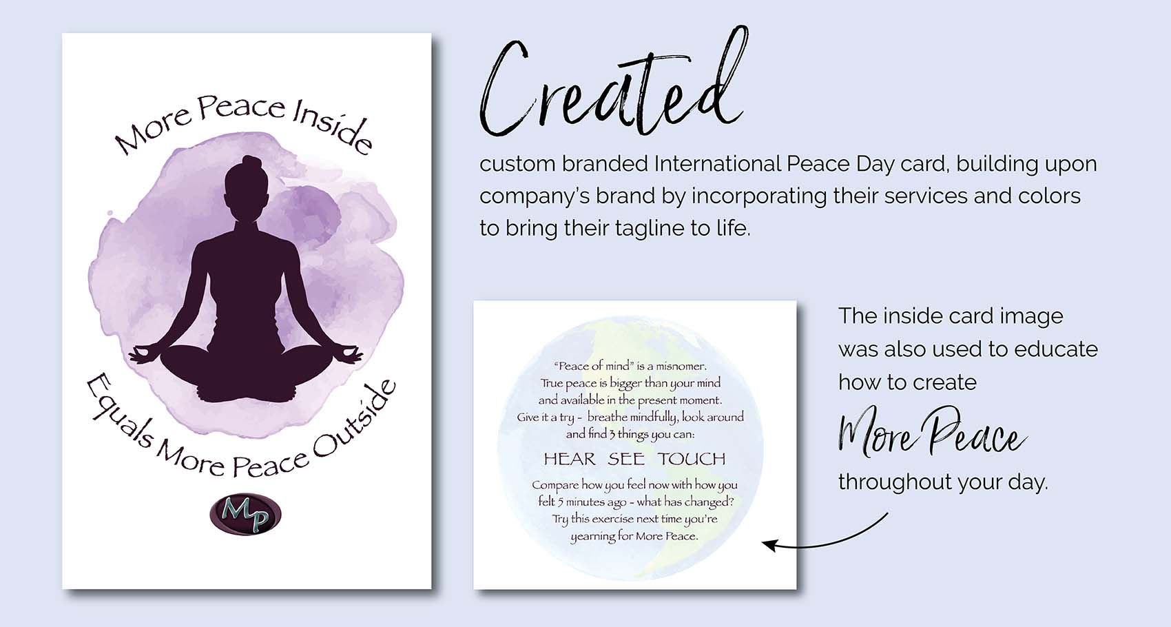 More Peace Inside Holiday Card Design by Eclectik Design