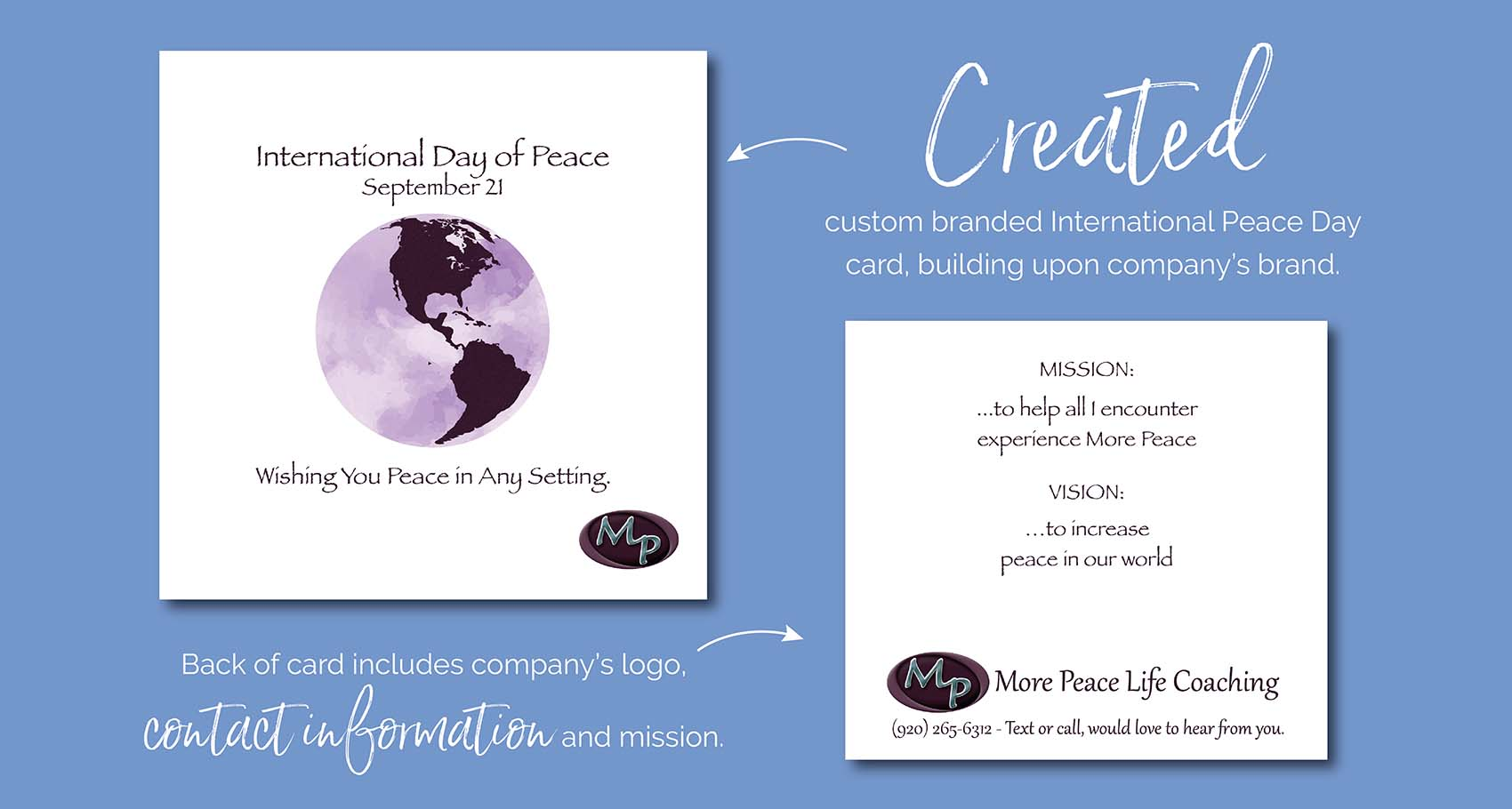International Day of Peace Card Design by Eclectik Design