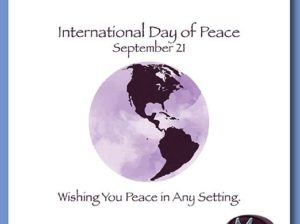 Close Up of International Day of Peace Holiday Card Design