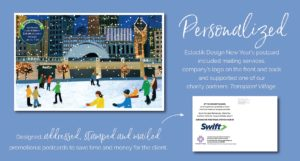 Swift Passport Charity Holiday Card Design Process