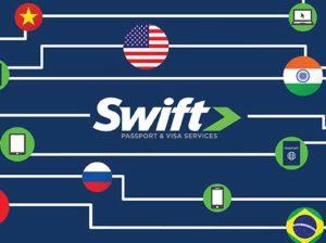Close Up of Custom Postcard Design for Swift Passport