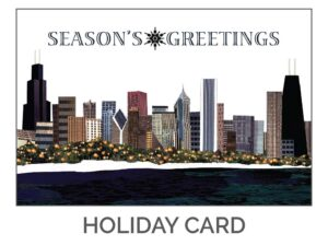 Season's Greetings Chicago Holiday Card by Eclectik Design