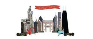 Hello There Chicago Card Design by Eclectik Design