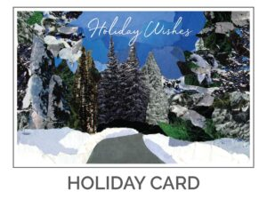 Holiday Wishes Nature Card Design by Eclectik Design