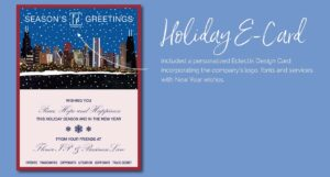 Holiday E-Card Design With Company Logo