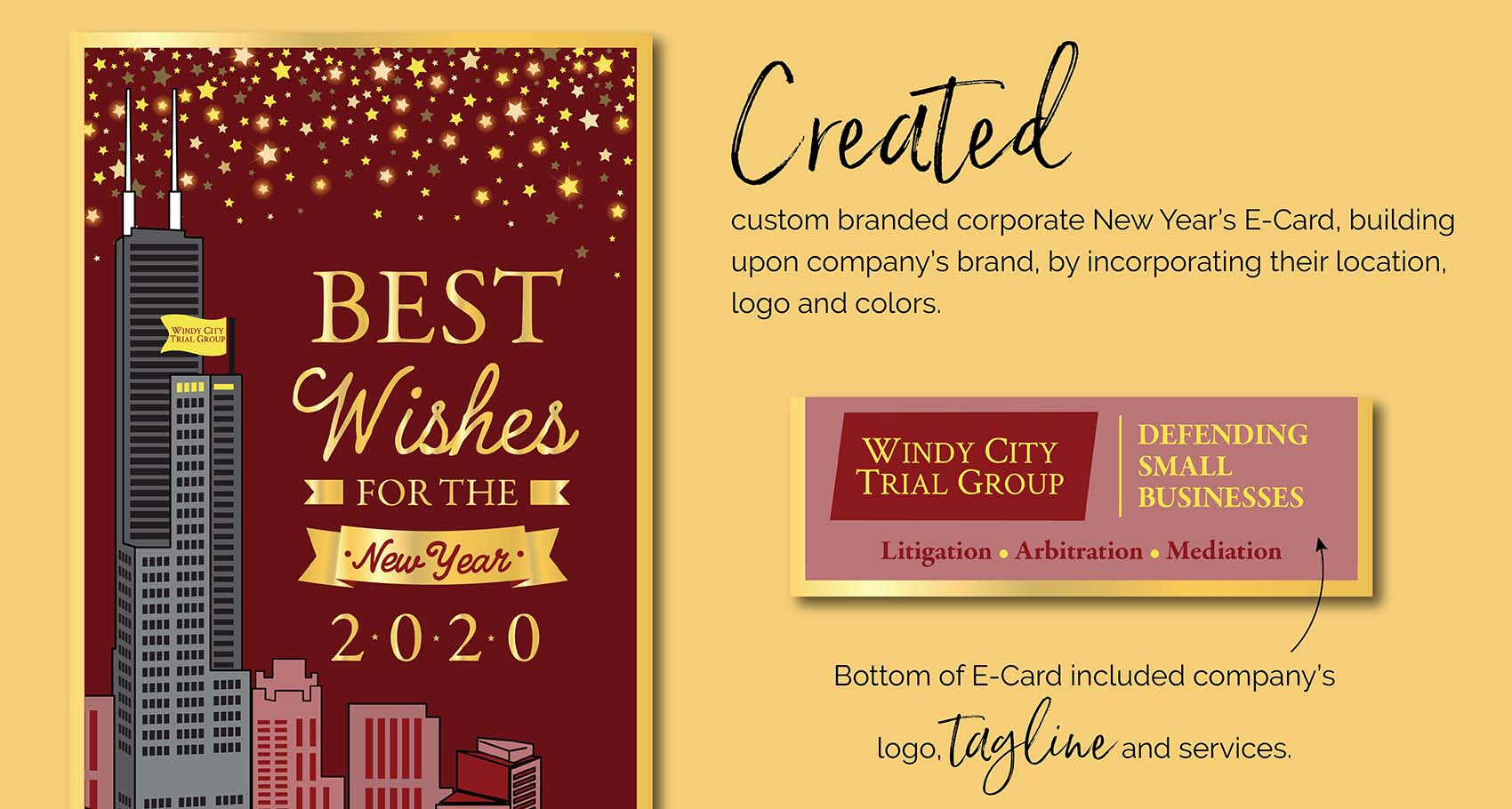 Windy City Trial Group E-Card Design